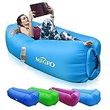 IREGRO aufblasbares Sofa New Version tragbarer Sitzsack wasserdichtes Aufblasbare Couch air Lounger Outdoor Sofa für Camping(blau)