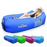 IREGRO Aufblasbares Sofa tragbarer aufblasbarer Sitzsack wasserdichtes air Lounger für Camping(saphirblau)