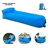 Luxloyala 18 LuftSofaBlau3C7V Aufblasbares Sofa,Luftcoach Hochwertige Wasserdichtes,air Lounger luftsofa, Blau, Eine Größe