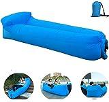 OXENDURE 00548 Aufblasbares Sofa,Luftcoach Hochwertige Wasserdichtes luftsofa, Blau